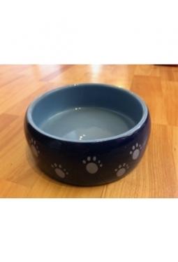 Keramik Futtertrog blau mit Taze Occas..